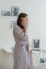 Халат лавандово-серый шаль